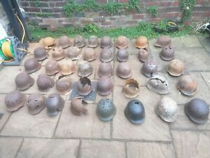 Original WW2 relic German army helmet battle damage m42