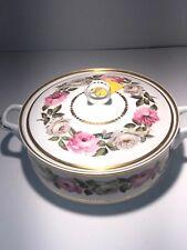 """Royal Worcester ROYAL GARDEN Covered Vegetable Bowl Gold 10 1/2"""""""
