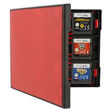 Étui Support Rangement Carte Jeu Assecure Pro Noir Et Rouge 18 En 1 3DS 2DS Ds