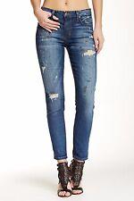JOE'S JEANS Boyfriend Slim Paint Splattered Ankle Jeans Sarina Blue 26  $198 135