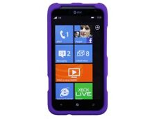 Rubberized Hard Plastic Purple Phone Protector Cover Case Cases for HTC Titan II