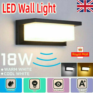 18W LED Wall Light Outside LED Wall PIR Motion Sensor Lights IP65 Waterproof UK