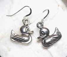 Rubber Ducky Earrings Duck Ducks Animal 925 sterling silver Hook Charms Charm