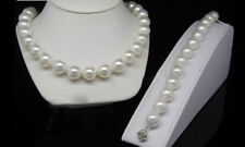 AAA+ Real 10mm White Sea Shell Pearl Necklace 18'' Bracelet 7.5''