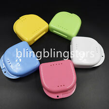 1x Dental Orthodontic Retainer Denture Storage Case Box Mouthguard Container
