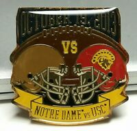 Notre Dame vs USC 2013 Game Day Football Lapel Pin ND Fighting Irish & Trojans