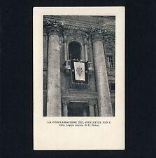 PAPST PIUS X PAPA POPE Proclamation 1903 S. Pierto * Vintage PC / AK
