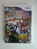 Super Smash Bros. Brawl Game New & Sealed! Nintendo Wii Brothers