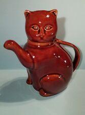 Vintage Brown Cat Teapot