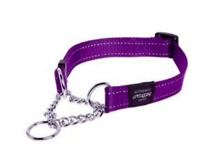 Rogz Reflective Lumberjack Obedience Dog Collar For X-Large Dogs Purple