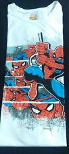 Marvel Comics Mens Tshirt Spider Man White Printed Unisex Size XL New