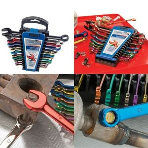 Draper 23017 13 Piece METRIC COLOURED COMBINATION SPANNER SET Open Ended Ring