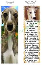 Greyhound Bookmark Dog Rules Property Laws Whippet Book Card Ornament Figurine