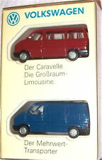 2 PARTI VW CARAVELLE Trasportatore MODELLO PUBBLICITARIO Wiking 1:87 Å