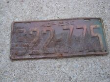 Very Rusty  MO 1935, 622-775 Missouri License Plate only one