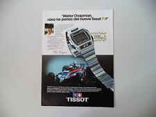 advertising Pubblicità 1980 TISSOT F1 e COLIN CHAPMAN