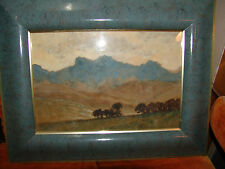 william m timlin south africa art  painter original watercolor painting  listed