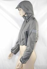 $595 Burberry Sport 10 Pack-A-Way Grey Hoodie Rain Coat Jacket Pouch Women NEW A