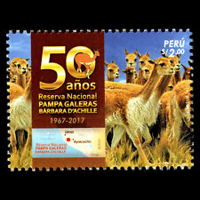 Peru 2018 - 50th Anniv. of the Pampa Galeras National Reserve - MNH