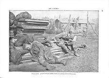 WWI Bataille de la Somme Camp Prisonniers Feldgrau Deutsches Heer ILLUSTRATION