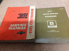 1977 Chevy Light Duty Truck Service Shop Repair Manual Set W Wiring Diagram OEM
