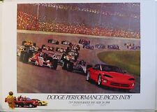 1991 Original Dodge Viper Indy Racing Vintage Poster Carroll Shelby Muscle Car