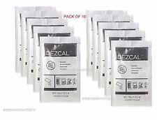 URNEX DEZCAL COFFEE MAKER & ESPRESSO DESCALER -  PACK of 10 SACHETS