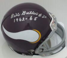 """Vikings BULL BUTLER Signed Riddell TB Mini Helmet AUTO w/ """"1962-65"""""""