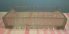 Vintage Pressed Glass Dish Rectangular 7 3/8""