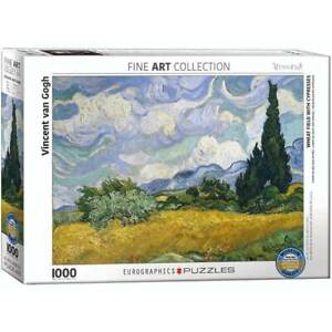 Eurographics Wheat Field with Cypresses by Vincent Van Gogh 1000pcs Puzzle (New)