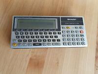 Mini Computer SHARP PC 1600 mit 512 KB Erweiterung   Sehr selten/ Extremly rare!