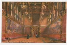 Royal Gallery Houses of Parliament London Embossed Tuck Postcard 268a