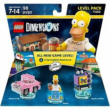 Lego Dimensions The Simpsons Fun Pack, Homer Simpson, Bart and Krusty 3pcs set