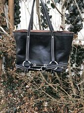 Luella Black Calfskin Leather Tote Bag With No Flurrying