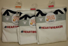 New! Lot of 3 Just One You by Carters Long Sleeve Bodysuit #Heartbreaker 6m & 9m