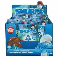 """Smurfs 3 The Lost Village Set of 4 Smurf and Animal Friends Blind Packs 2.25"""""""