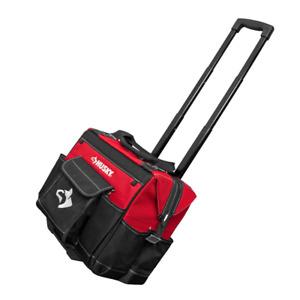 Tool Storage Tote Bag Organizer 14 in. Rolling Wheel Weather Resistant Jobsite