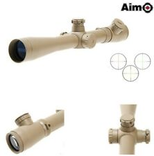 AIMO AIM 3.5-10x40E-SF OTTICA SCOPE SNIPER PROFESSIONAL TAN DESE SOFTAIR AIRSOFT