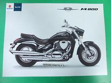 Custom Moto Suzuki Intruder M800 M 800 pubblicita brochure depliant prospect