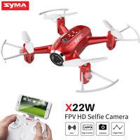 Syma X22W Pocket Drone HD Camera WIFI FPV RC Mini Gyro Helicopter Quadcopter