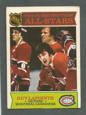 1975-76 OPC O-Pee-Chee Hockey Guy Lapointe #293 All-Star Montreal Canadiens