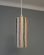 Mid Century farbige Glas & Messing Tüten Decken Pendellampe 50er 60er Jahre