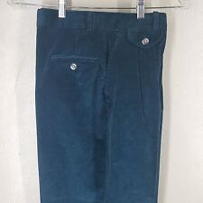 Eddie Bauer Boys Vintage Made in U.S.A. Green Corduroy Pleated Pants Size 12
