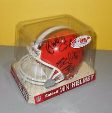 Cleveland Browns Riddell Mini Size Team Hand Autographed Helmet Heiden Claybrook
