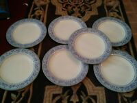 """Set of 7 Dinner Plates 10.5"""" RIVOLI Royal Doulton Expressions Exc Condition."""