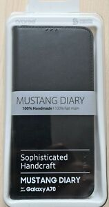 Samsung Mustang Diary by araree for Galaxy A70 black (GP-FFA705KDABW
