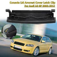 Black Center Console Lid Armrest Cover Latch Clip Catch For Audi A3 8P 2003-2012