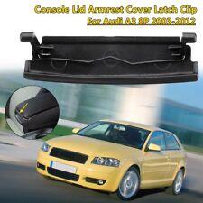 Black Center Console Lid Armrest Cover Latch Clip Plastic For Audi A3 8P 03-2012