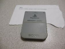 GENUINE GRAY SONY BRAND PLAYSTATION PS1 MEMORY CARD SCPH-1020 OFFICIAL ~TESTED~