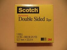 """6 3M Scotch Double-Coated Tape 665 Sided 1/2 X 900 Roll 1"""" Core Photo Safe OEM"""
